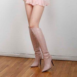 Giuseppe Zanotti Pink Leather Boots